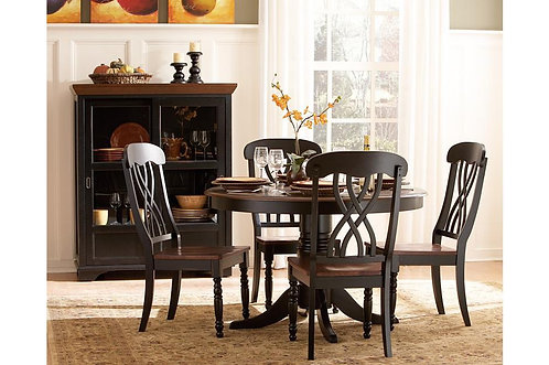 5Pc Ohana Round Dining Table W/ 4 Chairs