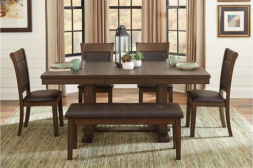 5pc wieland dining table w/ 4 chairs