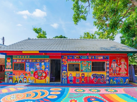 Rainbow Grandpa Saves Village by Painting Buildings with Colorful Art