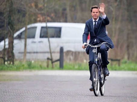 Prime minister on a bike