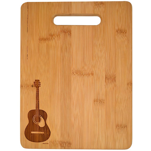 Wooden Cutting Board Guitar Engraved