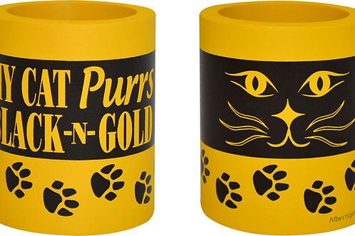 Can cooler My cat purrs black n gold