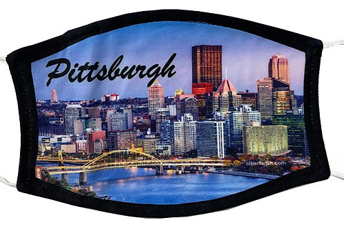 PITTSBURGH SKYLINE FULL COLOR FACE MASK 1PC