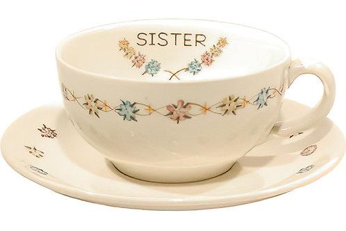 """Cup /Saucer Set """"Sister"""""""