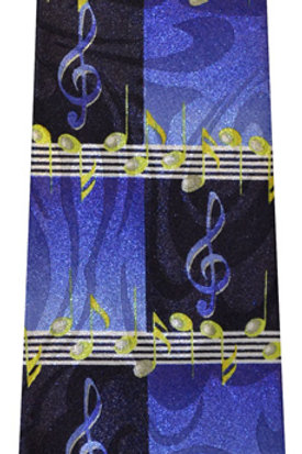 Navy and Royal G-Clef Tie