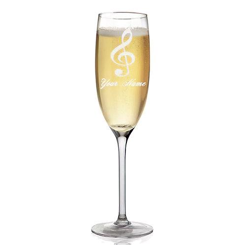 Classic Glassware/G-Clef Design Champagne Flute 5.75 oz.