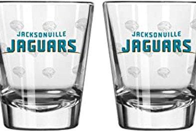Jacksonville Jaguars Shot Glass Satin Etch Style 2 Pack, Team Color, One Size