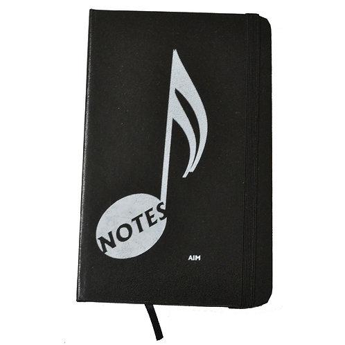 Notebook Music Note - Black