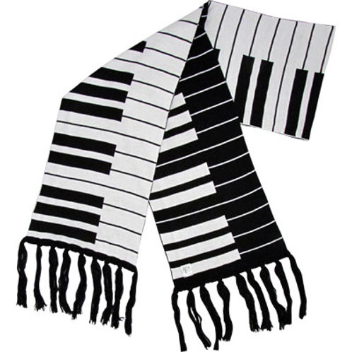 "Fine Knit Keyboard Scarf 66"" X 9"""