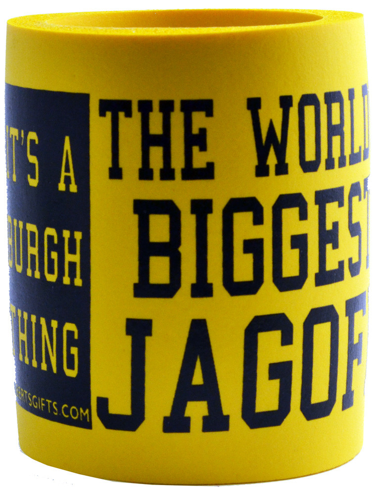 Can cooler Koozie with the World's biggest jagoff design. A Great gift for the jagoff in your life.