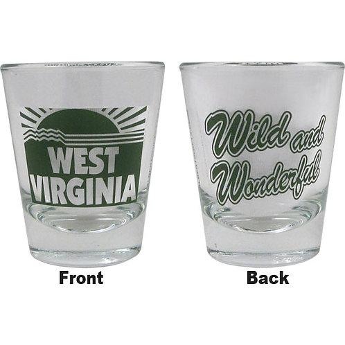 WEST VIRGINIA SHOT GLASS