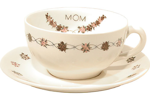 "Cup /Saucer Set ""Mom"""