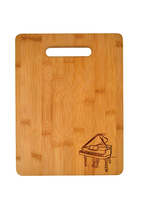 WOODEN CUTTING BOARD PIANO ENGRAVED