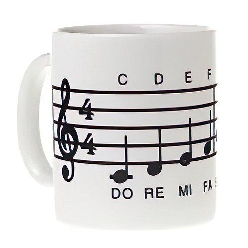 Musical Scale (White) coffee Mug