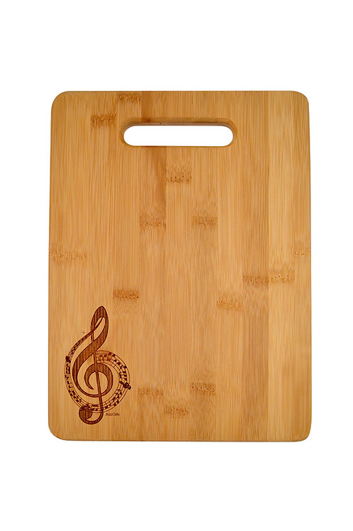 WOODEN CUTTING BOARD GCLEF ENGRAVED