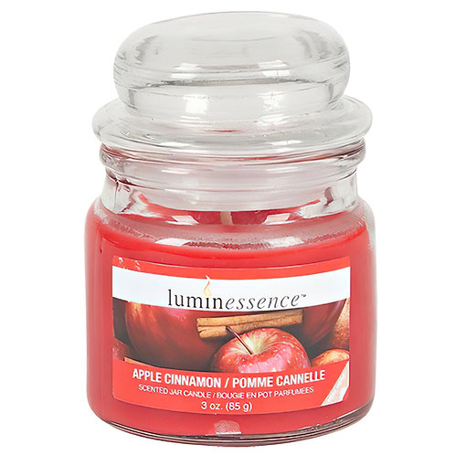3oz Luminessence Apple Cinnamon Scented Candle