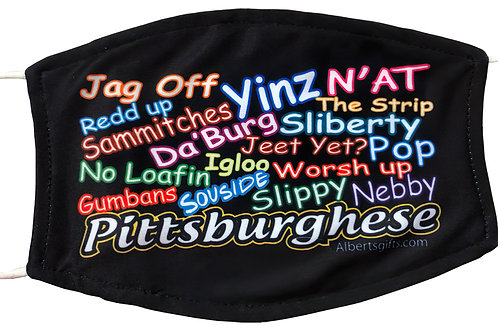 PITTSBURGHESE MIXED LETTERS MASK