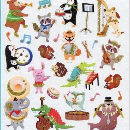 Musical Animals Stickers