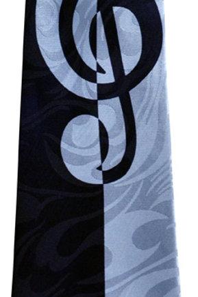 TIE G-CLEF BLACK/ BLUE
