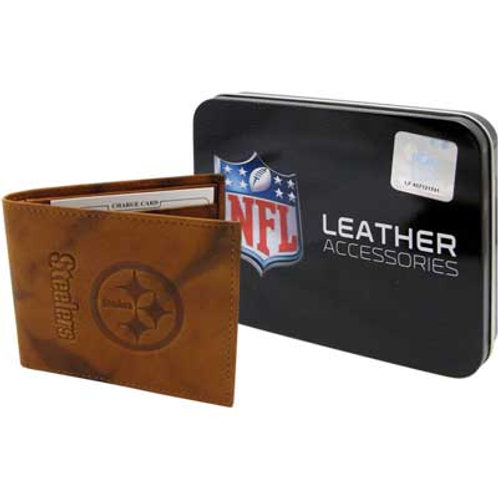 WALLET STEELERS EMBOSSED LEATHER BILLFOLD