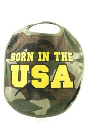 Born In The USA Camo Bib