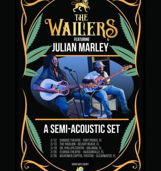 Florida Tour Dates: The Wailers featuring Julian Marley