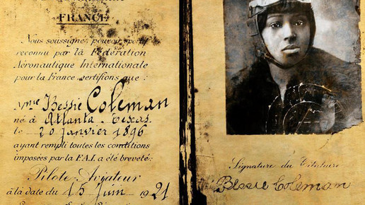 Bessie Coleman Flying The Blues Look Boo