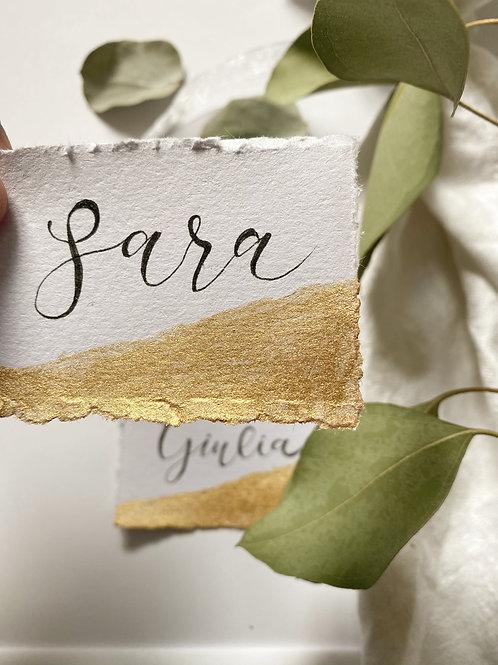 Cartoncino sfumato oro