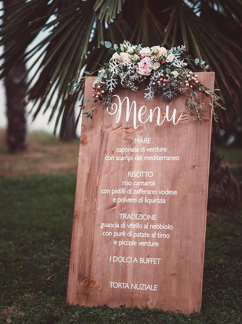 Un menu da gustare con gli occhi