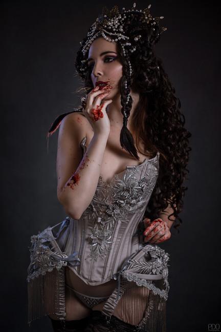 séance à thème Halloween avec corset