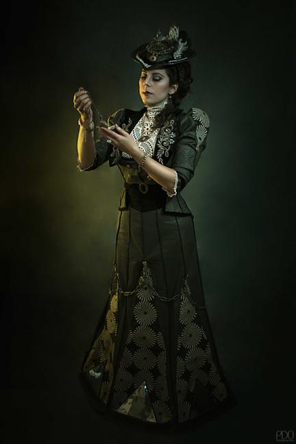 Robe steampunk de créateur