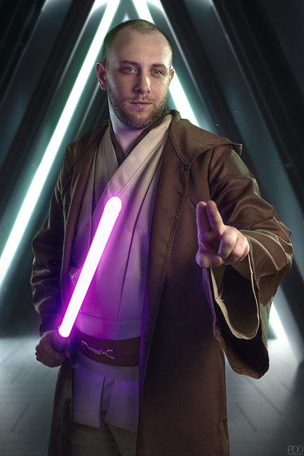 Jedi avec sabre laser