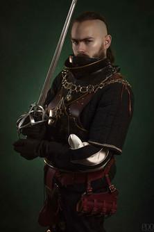 Représentation guerrier en armure GN