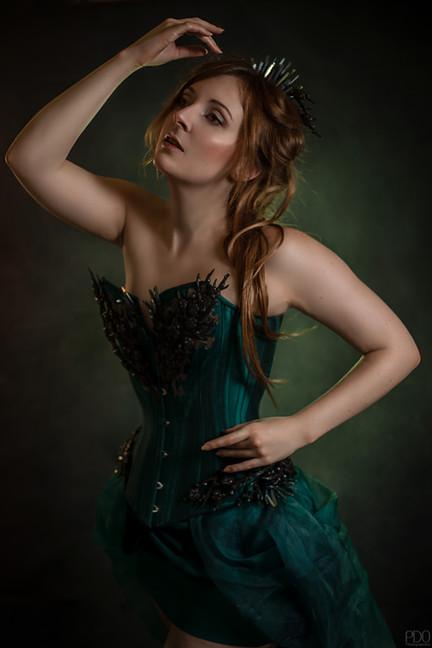 Séance photo romantique robe de créateur