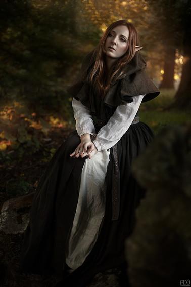 Séance photo elfique en forêt