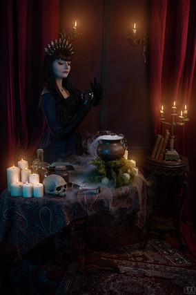 Séance photo gothique avec effet spécieux