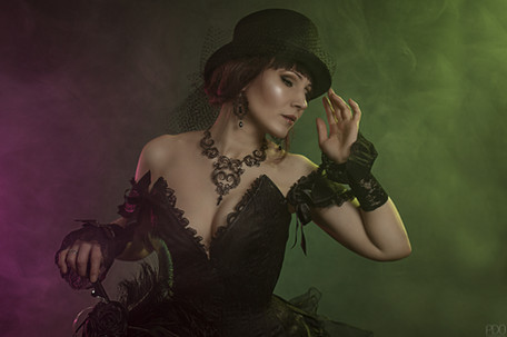 Portrait gothique et élegant