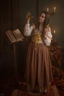 Mise en scène sorcière en costume