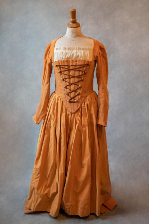 Costume corseté d'époque
