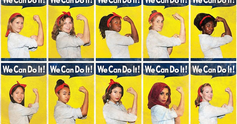 Photo by Ilana Spiegel. https://www.usatoday.com/story/college/2017/01/04/this-usc-student-put-a-multicultural-spin-on-rosie-the-riveter/37426001/