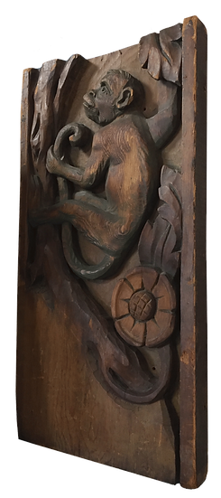 MONKEY WOOD CARVING