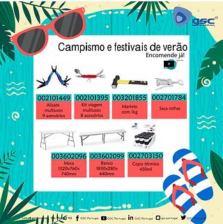 campismo e festivais de verão