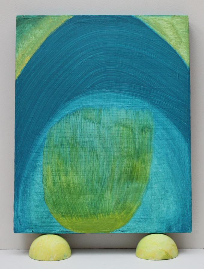 Kaddish, 2019, 11 x 8 in, oil on panel