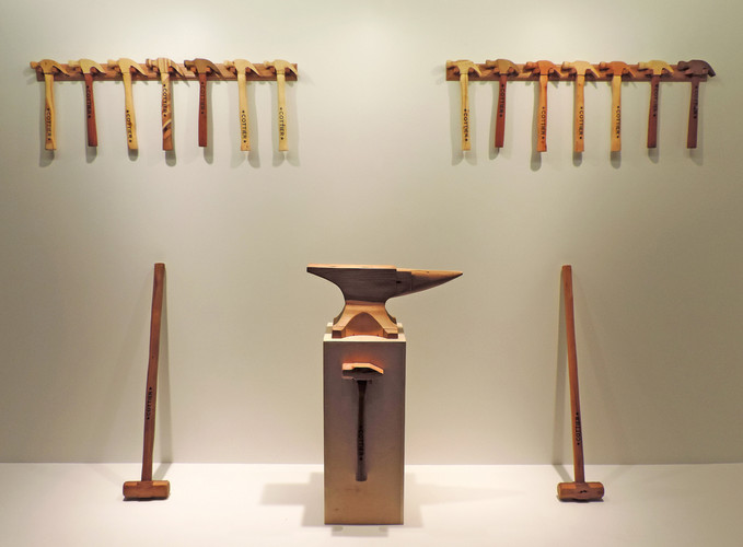 Holding back what I can but the power is so much, 2015, wood