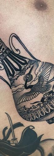 Phuckos stomach vase tattoo Sydney