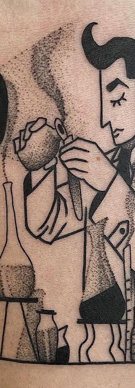 Phuckos Sydney tattoo Artist art deco