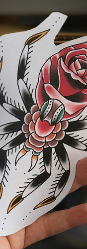 Cool traditional spider tattoo design