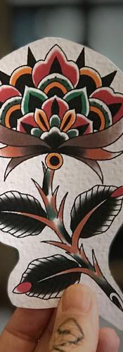 floral traditional tattoo artist sydney Australia