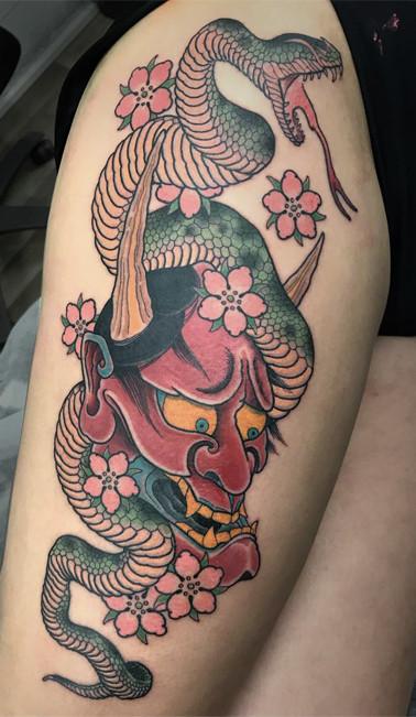 Snake Henya tattoo Sydney