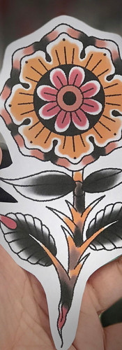 Scott eastlake traditional floral tattoo design